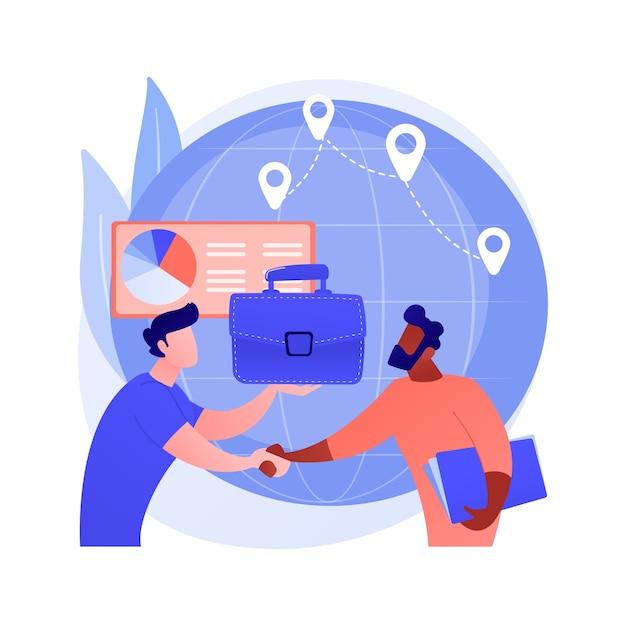 Абстрактное понятие обслуживания клиентов чат-бота Бесплатные векторы