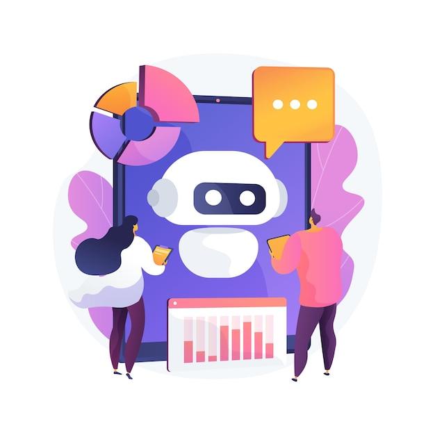 Chatbot 개발 플랫폼 추상적 인 개념 그림 무료 벡터