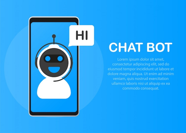 Premium Vector | Chatbot icon concept, chat bot or chatterbot.