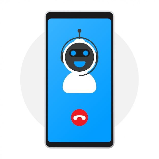 Chatbotアイコンコンセプト、チャットボットまたはchatterbot。 Premiumベクター