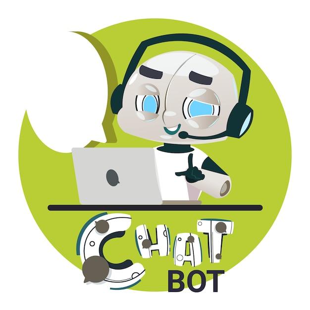 Chatter botユーザの質問に回答する Premiumベクター