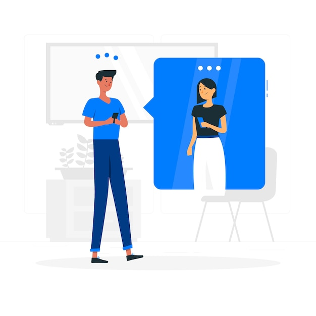Chatting concept illustration Free Vector