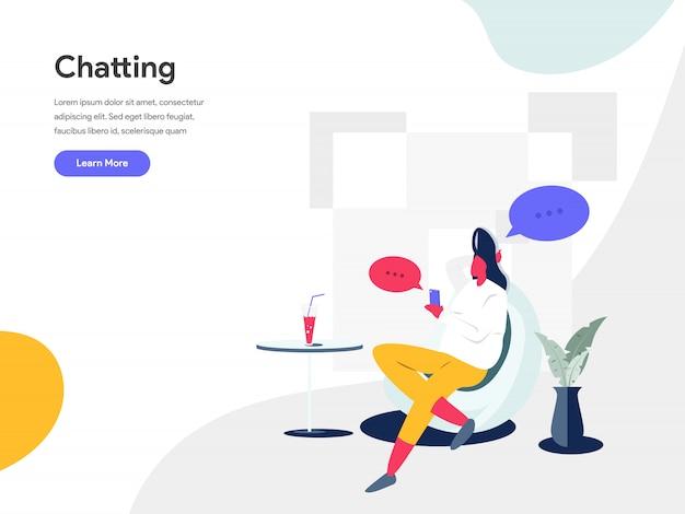 Chatting illustration concept Premium Vector