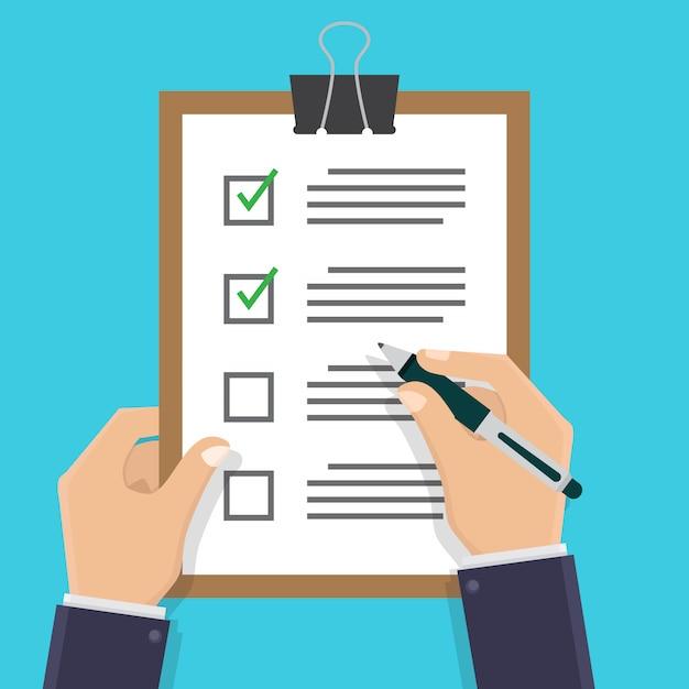 Check document Premium Vector