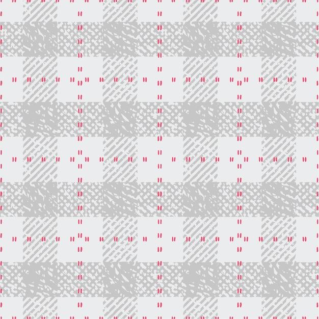Check pattern print Premium Vector