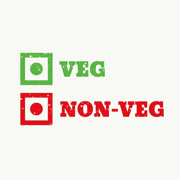 Checkboxes for food Free Vector