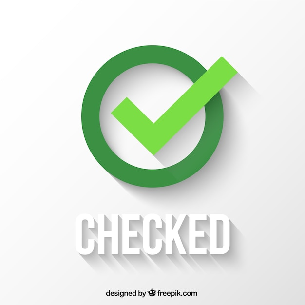 Checked icon Premium Vector