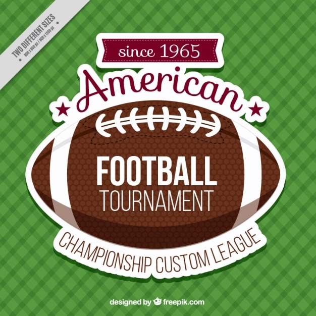 Checkered background with american football\ ball