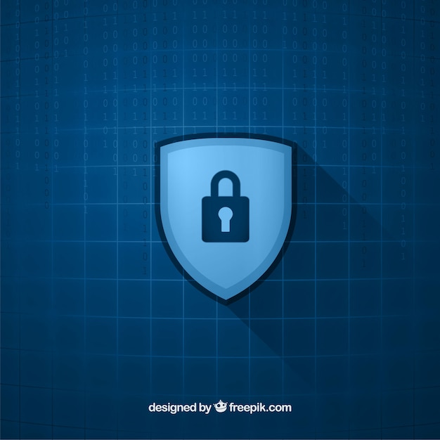 Checkered background with padlock Free Vector