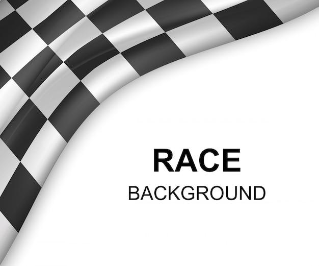 Checkered flag background illustration Premium Vector