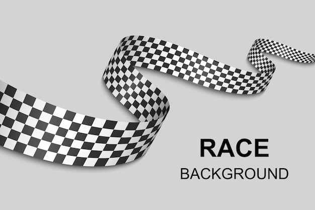 Checkered flag background . vector illustration Premium Vector
