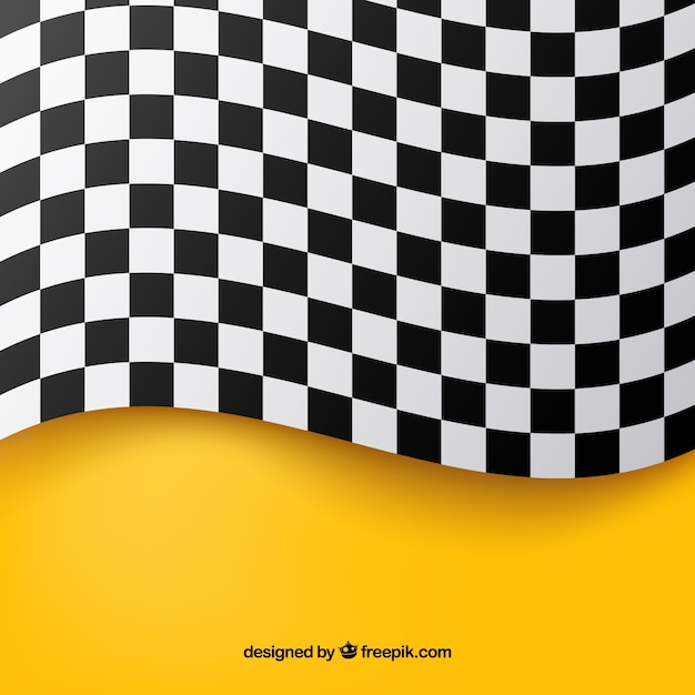 Checkered flag background Premium Vector