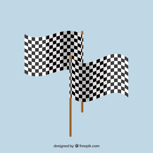 Checkered flag background Free Vector