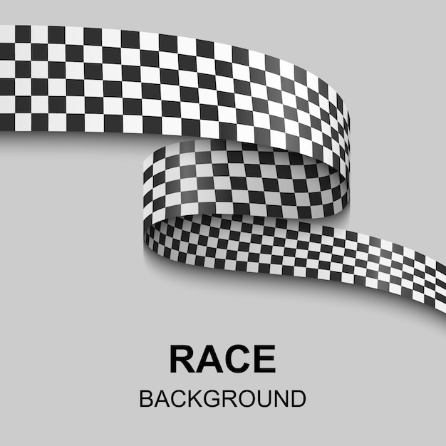 Checkered flag illustration Premium Vector