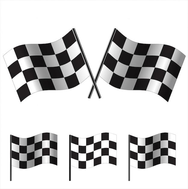 Checkered flags  racing Premium Vector