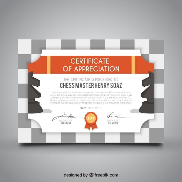 Checkered Graduation Certificate Template Vector