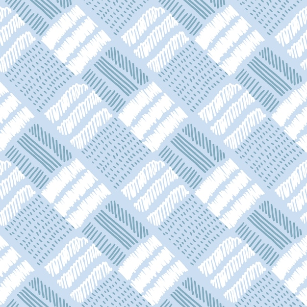 Checkered pale color vector seamless pattern Premium Vector
