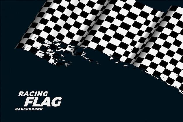 市松模様のレース旗の背景 無料ベクター