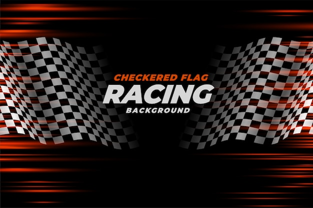 Checkered racing flag speed background Free Vector