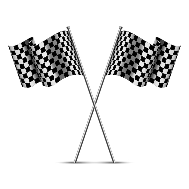 Checkered racing flags Premium Vector