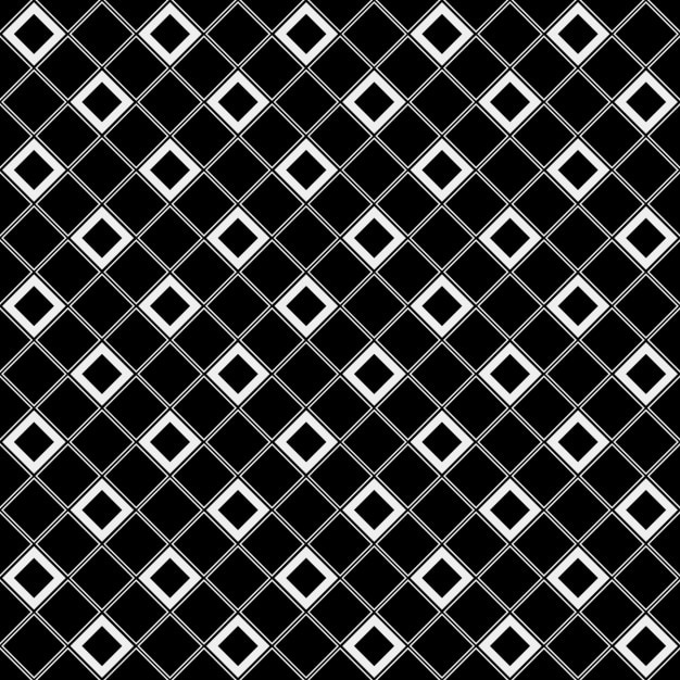 Checkered tile black and white Free Vector