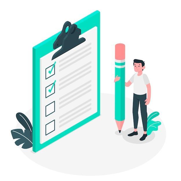 Checklist concept illustration Free Vector
