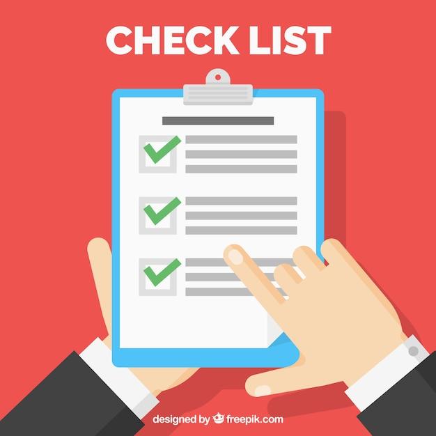 Checklist in flat design Free Vector