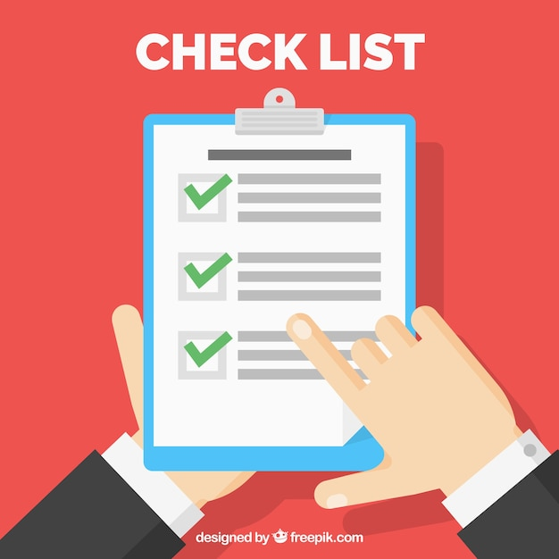 Checklist in flat design vector free download Blueprint designer free