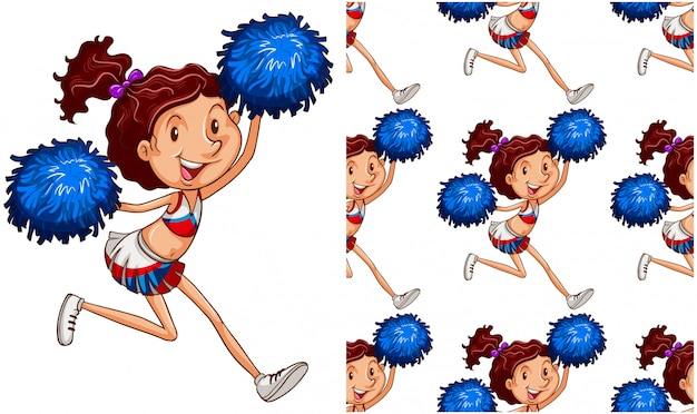 Cheer girl isolated on white Free Vector