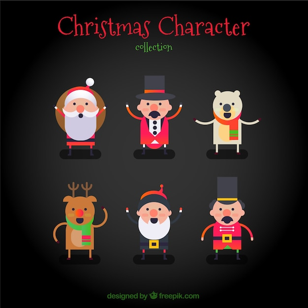 Cheerful christmas characters
