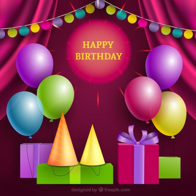 Cheerful happy birthday card