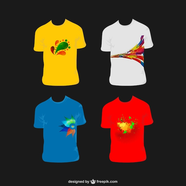 Cheerful men tshirts vector free download for T shirt design vector free download