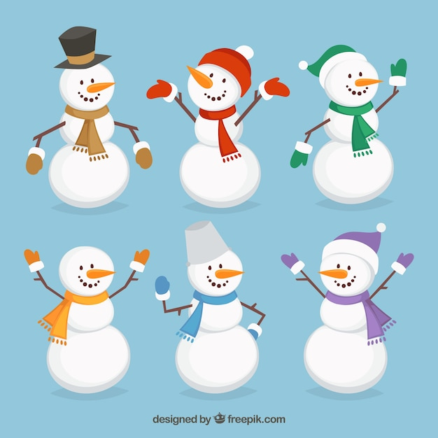 Cheerful snowmen
