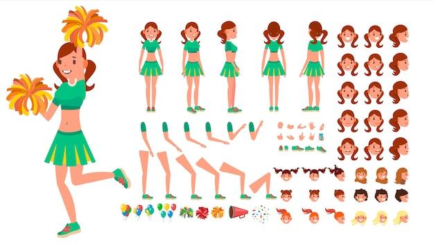 Cheerleader girl Premium Vector