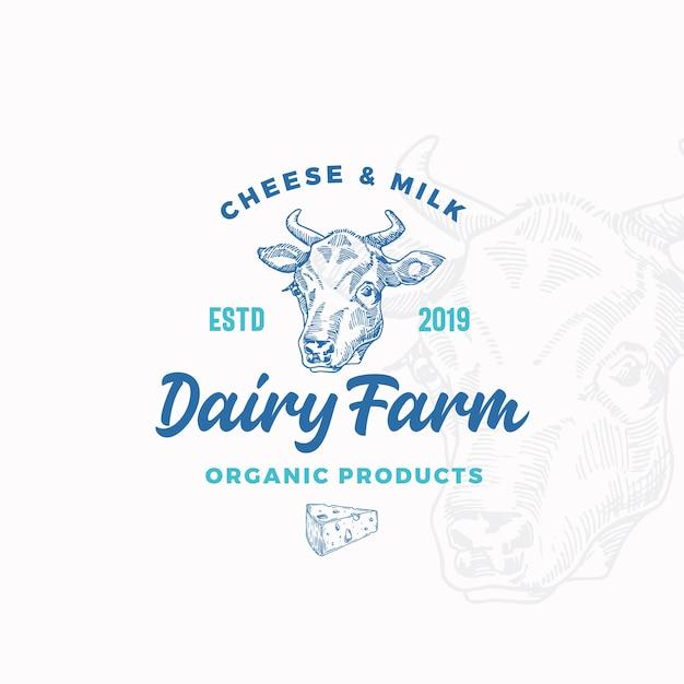 チーズと牛乳の酪農場 無料ベクター