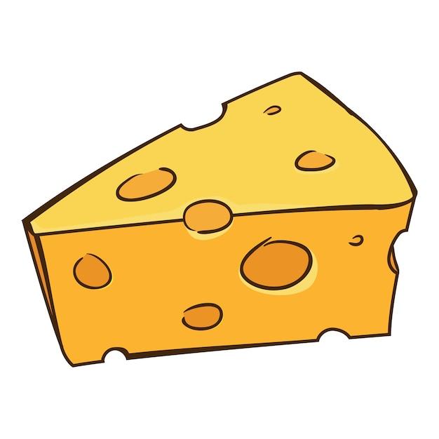 Premium Vector | Cheese cartoon