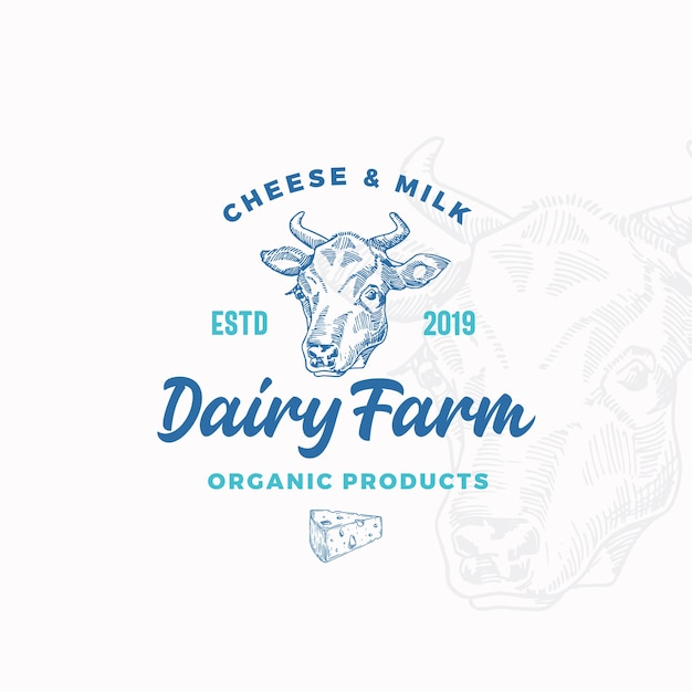 Cheese and milk dairy farm Free Vector