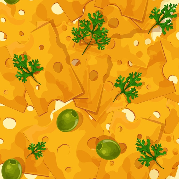 Cheese seamless pattern Free Vector