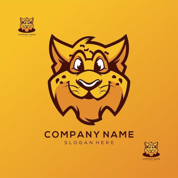 Cheetah logo design premium vector Premium Vector