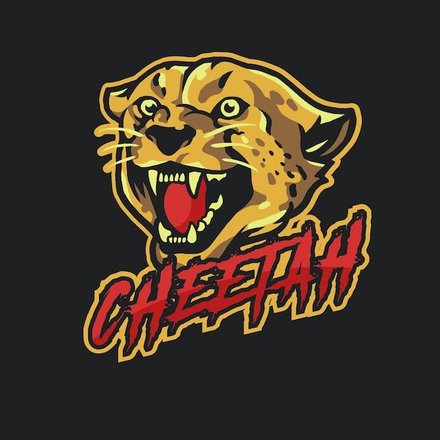 Cheetah mascot logo esport Premium Vector