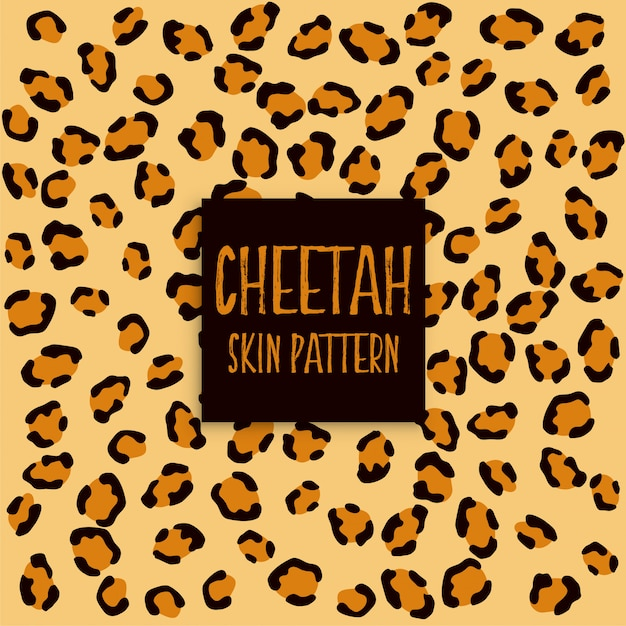Cheetah skin texture print pattern Free Vector