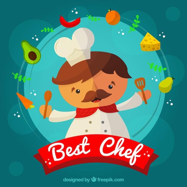 Chef background design Free Vector