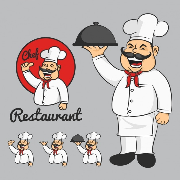 Chef designs collection Free Vector
