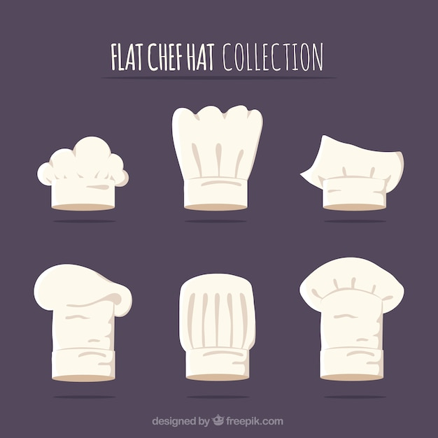 4449cf5b Chef hat collection Vector | Free Download