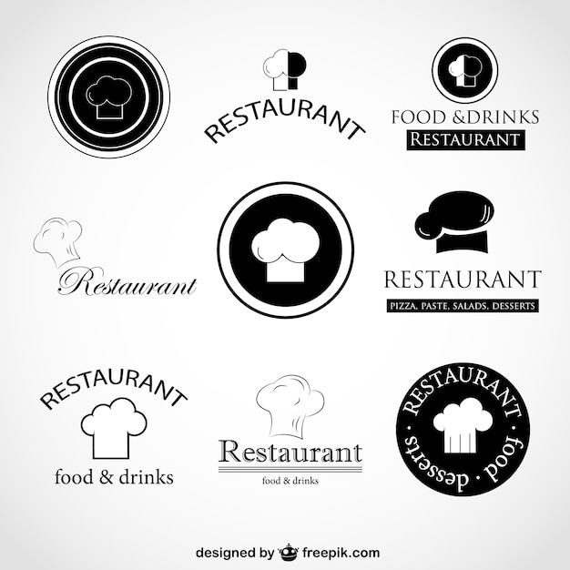 dec755190d9d5 Chef hats logos Vector | Free Download