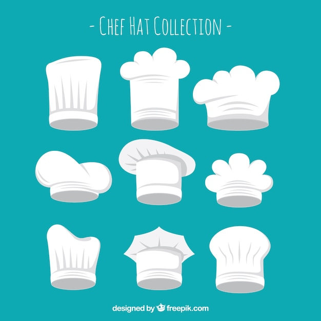 ef38ae2a Chef hats types hat collection Vector | Free Download