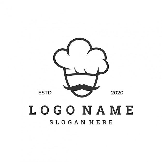 Концепция логотипа шеф-повара с шаблоном современного дизайна Premium векторы