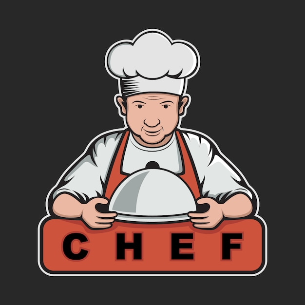 Chef logo template design Free Vector