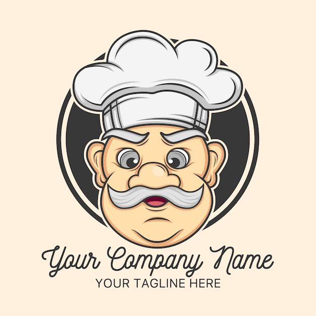 chef logo template design vector free download