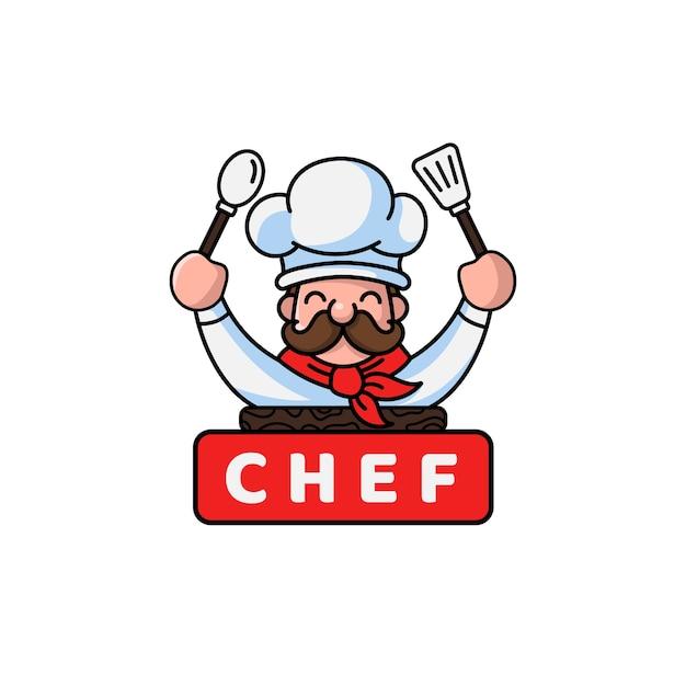 chef logo template vector premium download